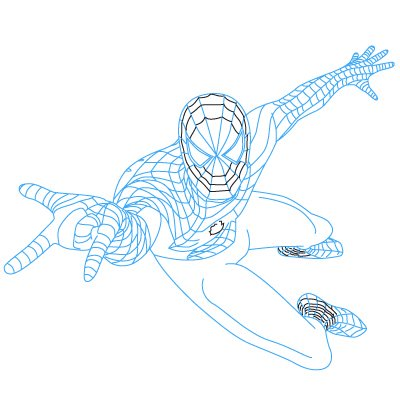 comment-dessiner-spiderman-tutoriel-1-13 Comment dessiner spiderman