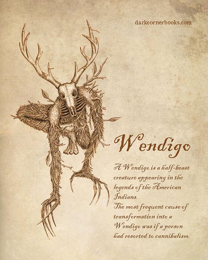 Des-effrayantes-creatures-mythologiques-meconnues-par-Bruno-Santos-3-wendigo